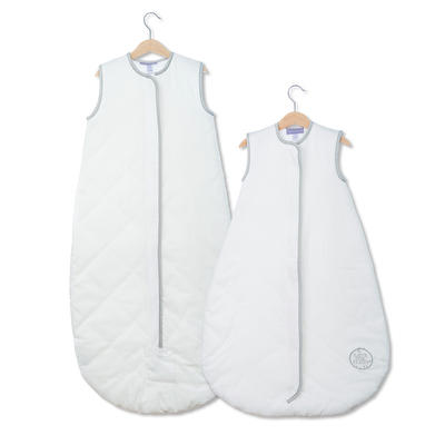 Save Our Sleep Safe Baby Bag Luxury White With Silver Binding Travel